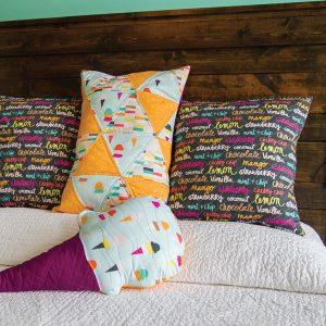Boardwalk Delight fabric collection designed by Dana Willard for Art Gallery Fabrics - quilted pillows from Andrea's Notebook