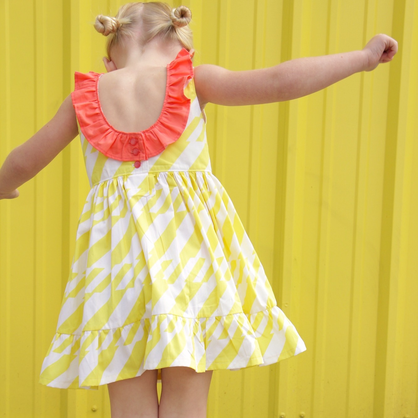 Boardwalk Delight fabric collection designed by Dana Willard for Art Gallery Fabrics - Sophie Dress by MADE Everyday - pattern from Simple Life Pattern Company