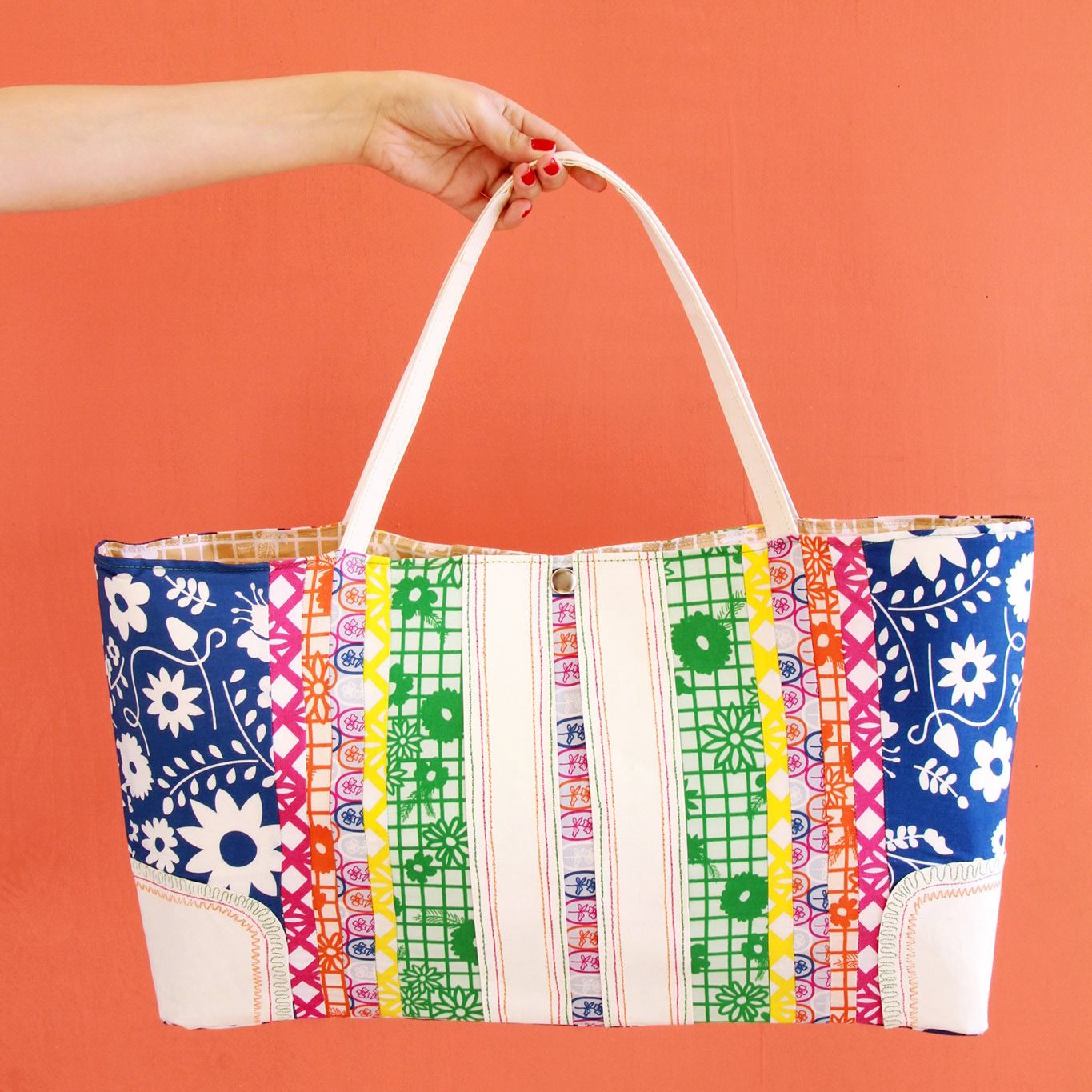 Fiesta Fun fabric collection designed by Dana Willard for Art Gallery Fabrics | FREE tote bag sewing tutorial and video from MADE Everyday