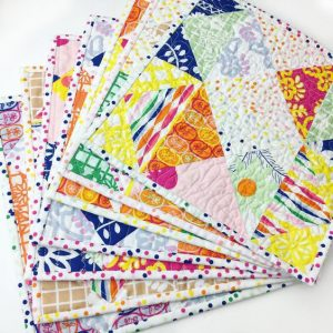 mug rugs | Fiesta Fun fabric collection designed by Dana Willard for Art Gallery Fabrics