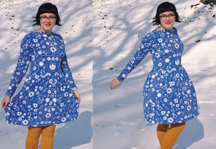 Mexican Dress Midnight dress by Hannah Corey using Fiesta Fun Fabrics by Dana Willard for Art Gallery Fabrics