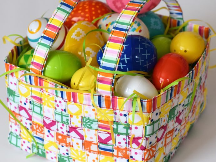 woven fabric easter basket from Mister Domestic | Fiesta Fun Fabrics by Dana Willard for Art Gallery Fabrics
