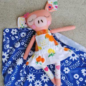 Fiesta Fun fabric collection by Dana Willard for Art Gallery Fabrics - dolls sewn by aubreyplays