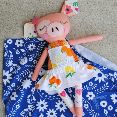 Fiesta Fun fabric collection by Dana Willard for Art Gallery Fabrics - dolls sewn by aubreyplays