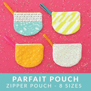 Parfait Pouch sewing pattern from MADE Everyday | downloadable pdf file for zipper pouch pattern in 8 sizes