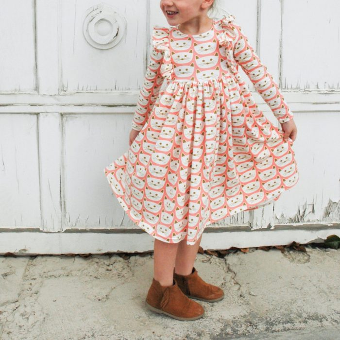 Millie Dress sewing pattern from Mix It Make It | made by The Sara Project | Blush fabric collection by Dana Willard from Art Gallery Fabrics