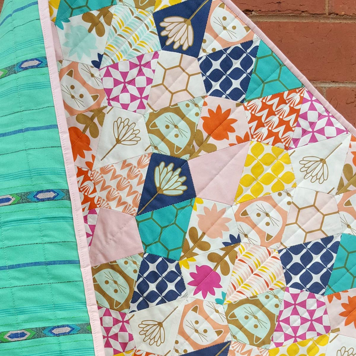 Pond Quilt from Tales of Cloth | English paper piecing | Blush fabric collection by Dana Willard from Art Gallery Fabrics