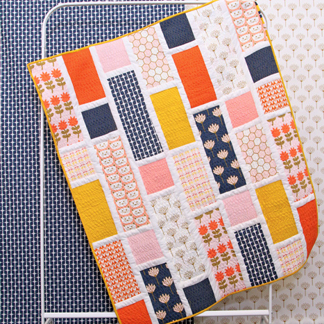 Blooming Fields FREE Quilt Pattern | Blush fabric collection by Dana Willard from Art Gallery Fabrics