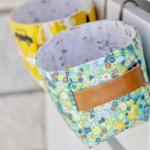 Fabric from Day Trip fabric collection by Dana Willard for Art Gallery Fabrics | Hold It Bin pattern from MADE Everyday