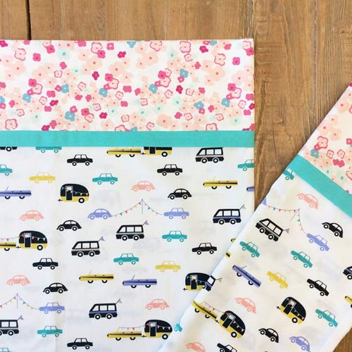 Joyride Day print from Day Trip fabric collection by Dana Willard for Art Gallery Fabrics