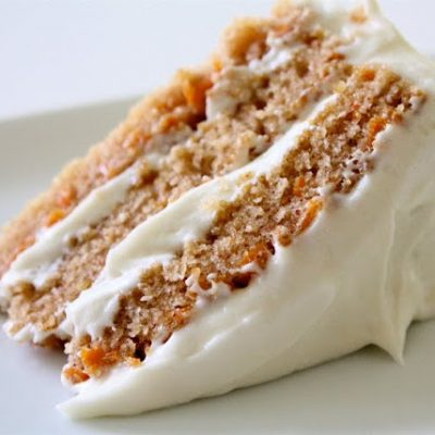 Carrot Cake with Cream Cheese Frosting - recipe from MADE Everyday with Dana