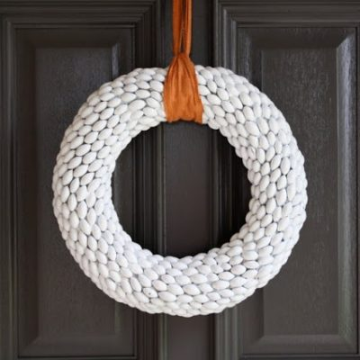 Acorn Wreath craft tutorial from MADE Everyday - great for fall, Thanksgiving, Christmas!