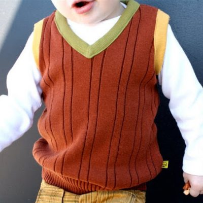 Child's Sweater Vest recycled from an adult sweater - sewing tutorial from MADE Everyday