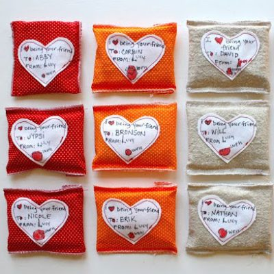 Little Gift Pouches for Valentines - sewing tutorial from MADE Everyday