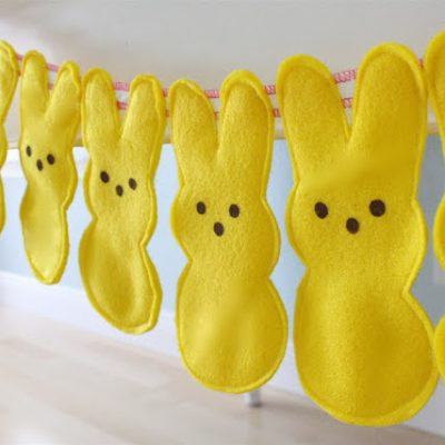 Peeps Bunny Bunting / Garland or Door Hangers - sewing tutorial from MADE Everyday