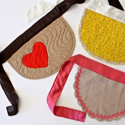 Kids' Placemat Aprons - sewing tutorial from MADE Everyday with Dana