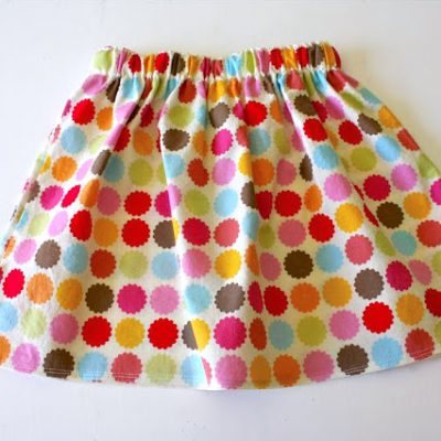 Simple Skirt sewing tutorial from MADE Everyday with Dana