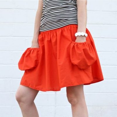 Summer Skirt with Deep Pockets - a sewing tutorial from MADE Everyday with Dana