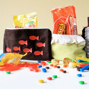 Zippered pouch candy bags - sewing tutorial from MADE Everyday with Dana
