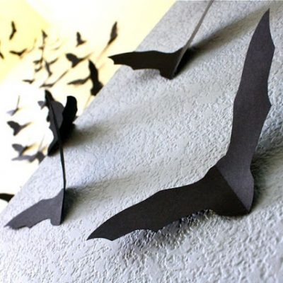 Paper bats for Halloween decorating - a craft tutorial from MADE Everyday