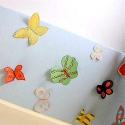 paper butterfly sanctuary craft tutorial from MADE Everyday