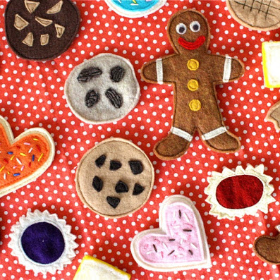 Felt cookies tutorial from MADE Everyday
