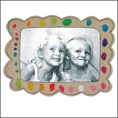 cereal box picture frame magnet tutorial from MADE Everyday