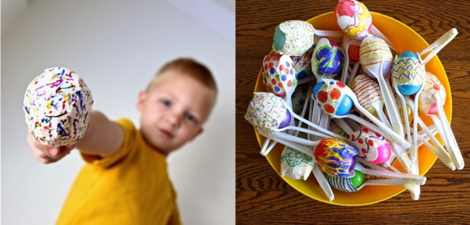 Cinco de Mayon activities for kids: Mini Maracas.