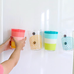 Fridge Magnet Cups tutorial from MADE Everyday with Dana