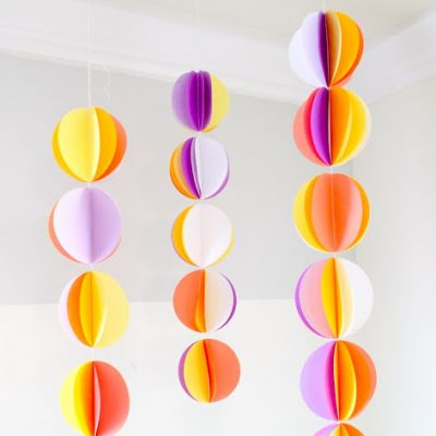 paper garlands sewing tutorial