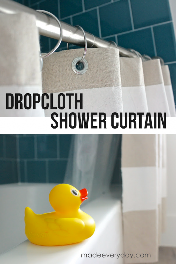 Dropcloth Shower Curtain sewing tutorial from MADE Everyday with Dana