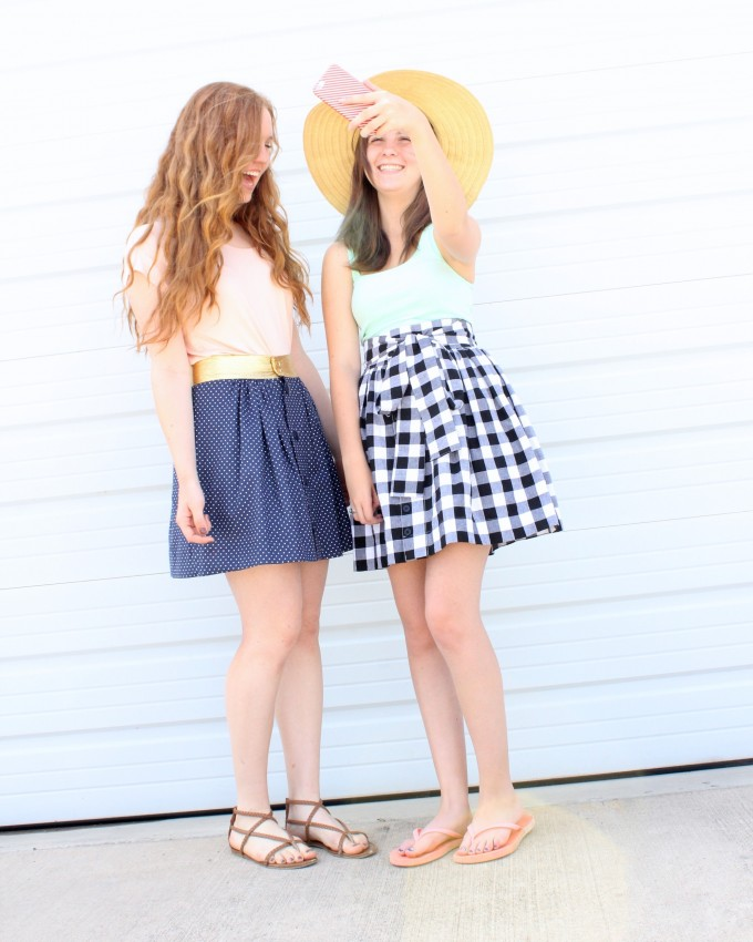 the Anywhere Skirt Pattern by MADE for all ages and sizes