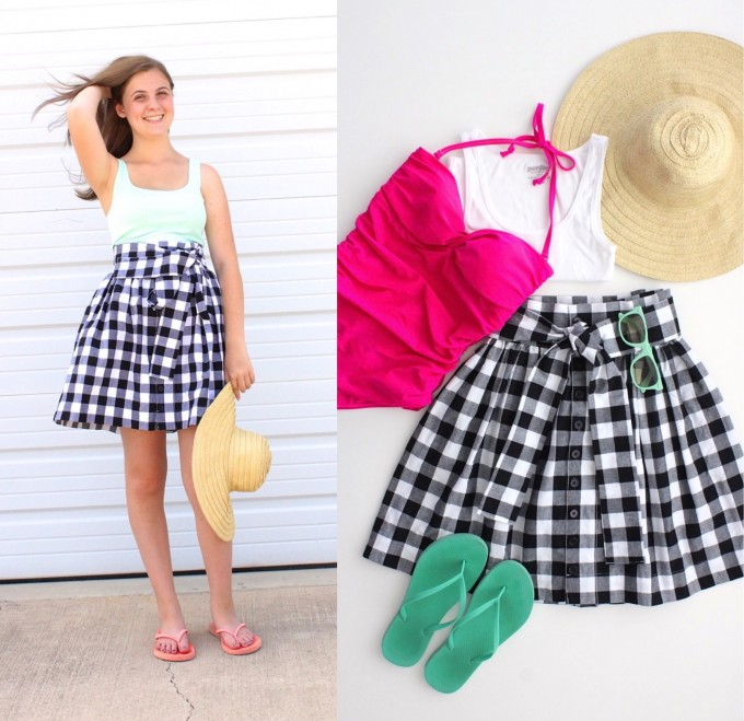 the Anywhere Skirt Pattern for Teens