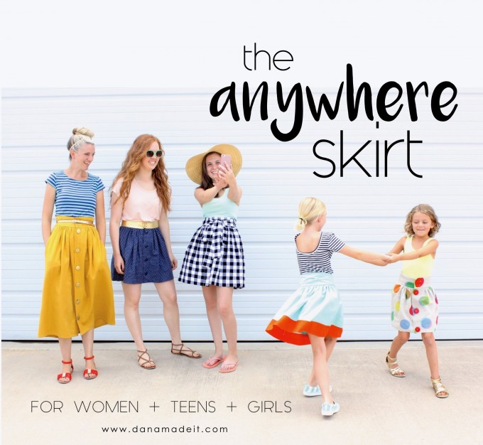 the Anywhere Skirt sewing Pattern