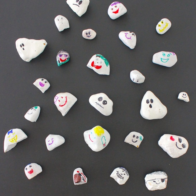 Ghost Rocks made from river rocks