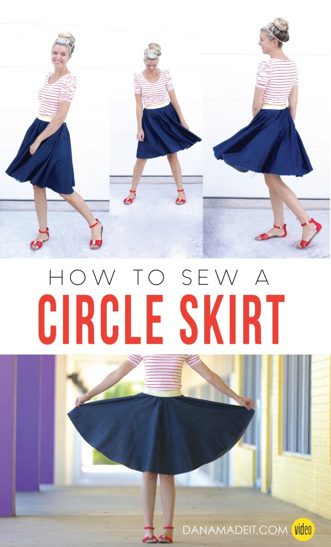 How to sew a Circle Skirt video