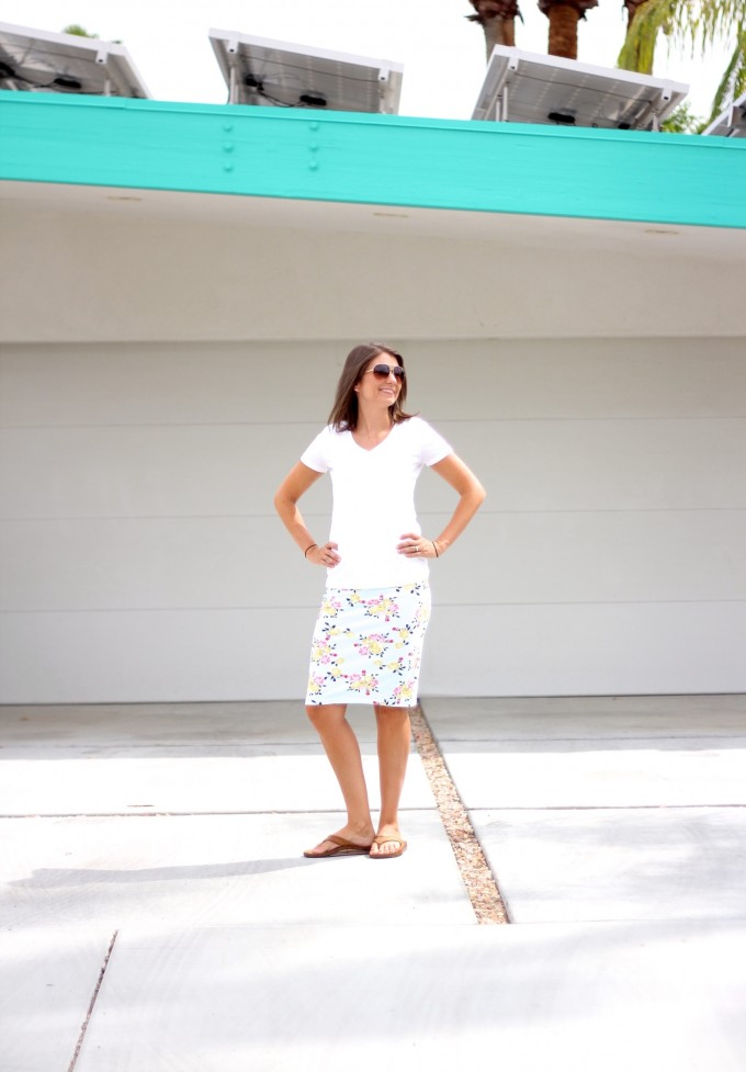 How to sew an easy Pencil Skirt