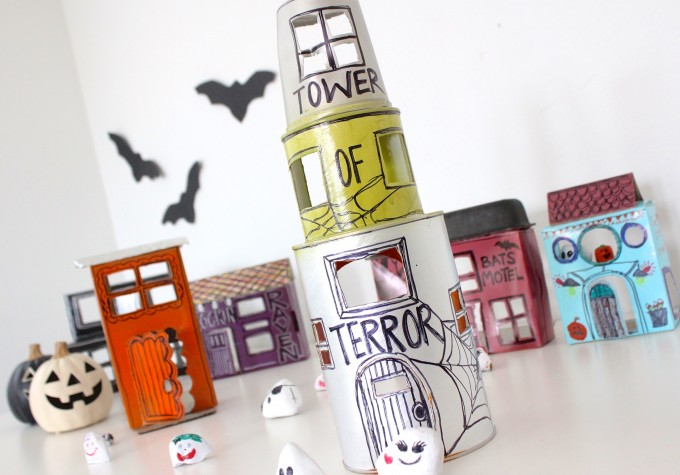 Little Ghost Town upcycled craft
