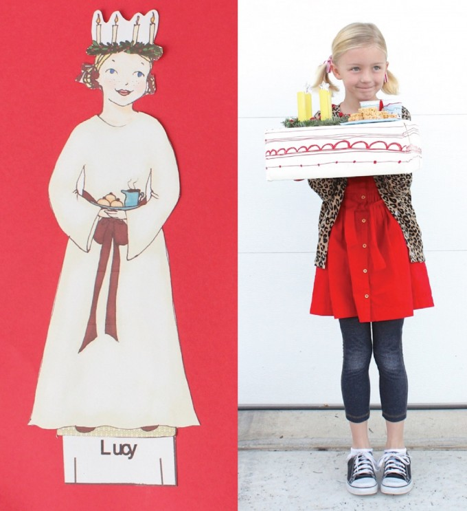St Lucia Day paper doll