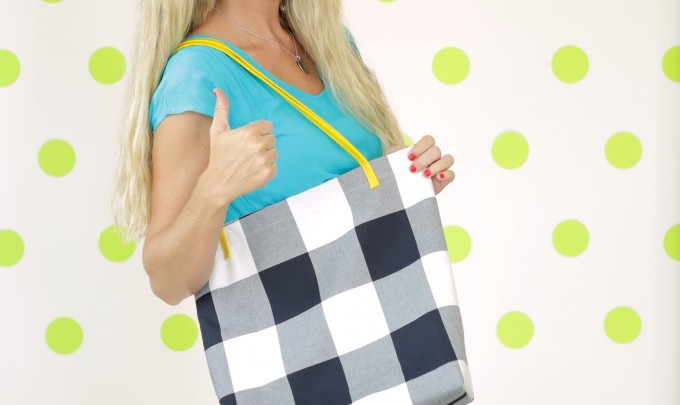 easy Tote Bag tutorial and video on MADE