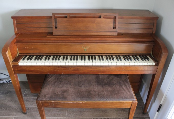 vintage piano on MADE