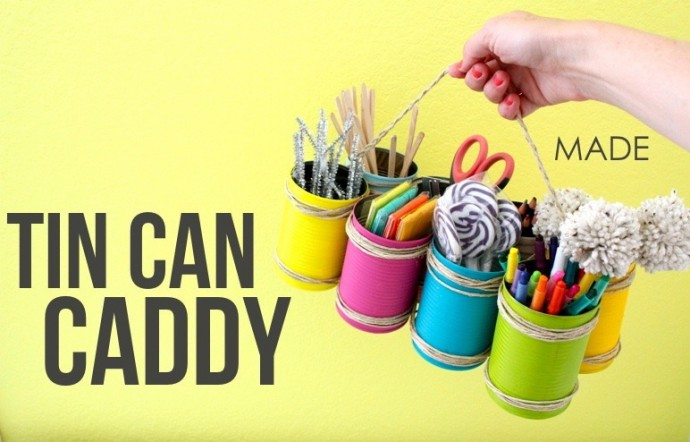 How to make a Tin Can Caddy on MADE Everyday with Dana Willard