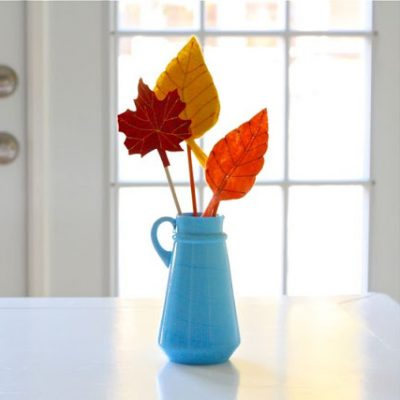 Fall Felt Leaves - craft tutorial from MADE Everyday with Dana