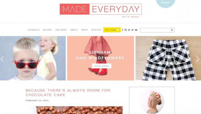 MADE Everyday with Dana website