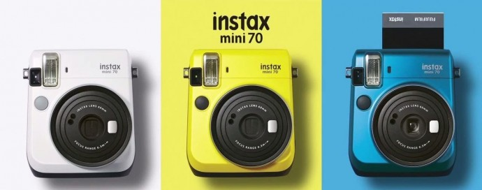 cute colored instax cameras
