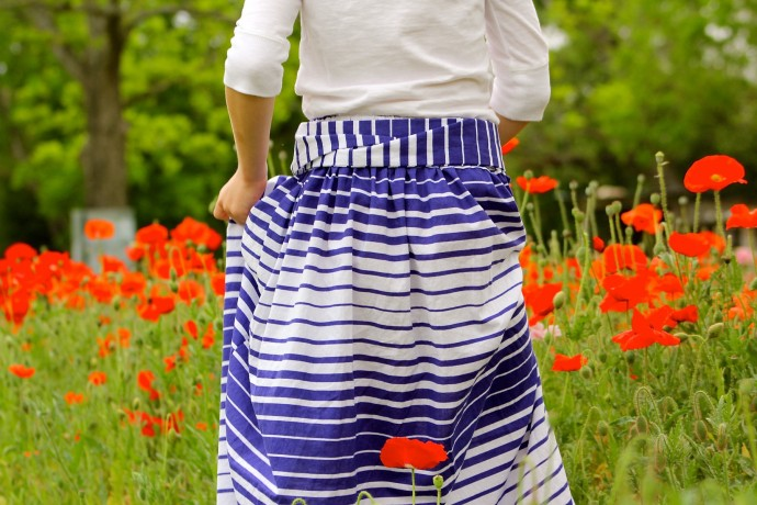 Add a Sash to your skirt on MADE Everyday with Dana