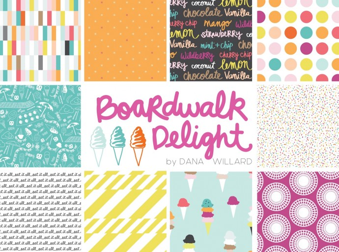 Boardwalk Delight new fabric collection by Dana Willard of MADE Everyday for Art Gallery Fabrics
