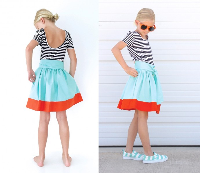 How to sew hidden pockets into a skirt or dress on MADE Everyday with Dana Willard