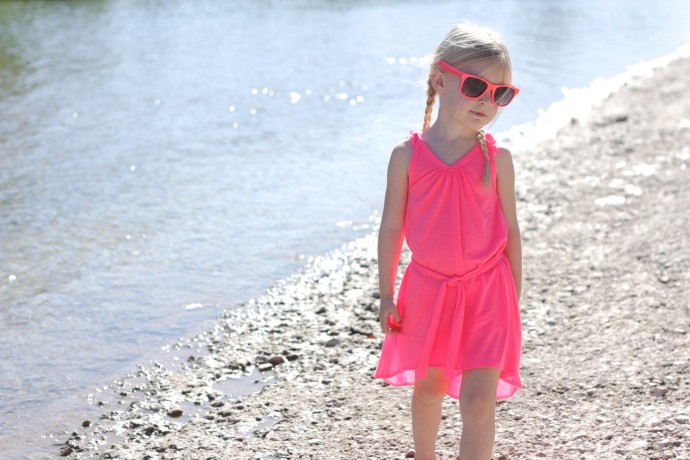 Neon Pink Sundress on MADE Eveyrday with Dana Willard