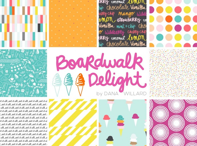 Boardwalk Delight Fabric Collection by Dana Willard for Art Gallery Fabrics